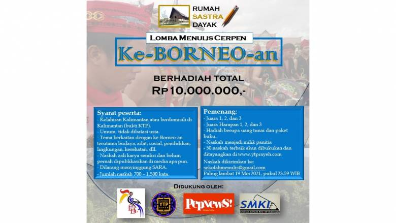 Ikuti Lomba Cerpen ke-Borneo-an Berhadiah Rp10 Juta