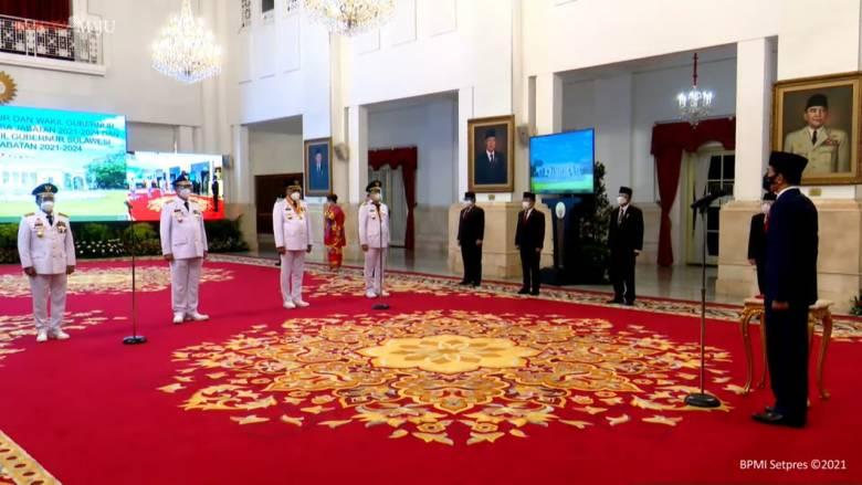 Presiden Jokowi Lantik Gubernur/Wagub Kalimantan Utara dan Sulawesi Utara