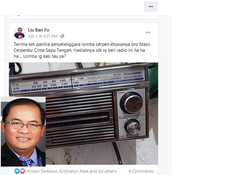 Munaldus: Insentif Sayembara Dibelikan 2 Radio