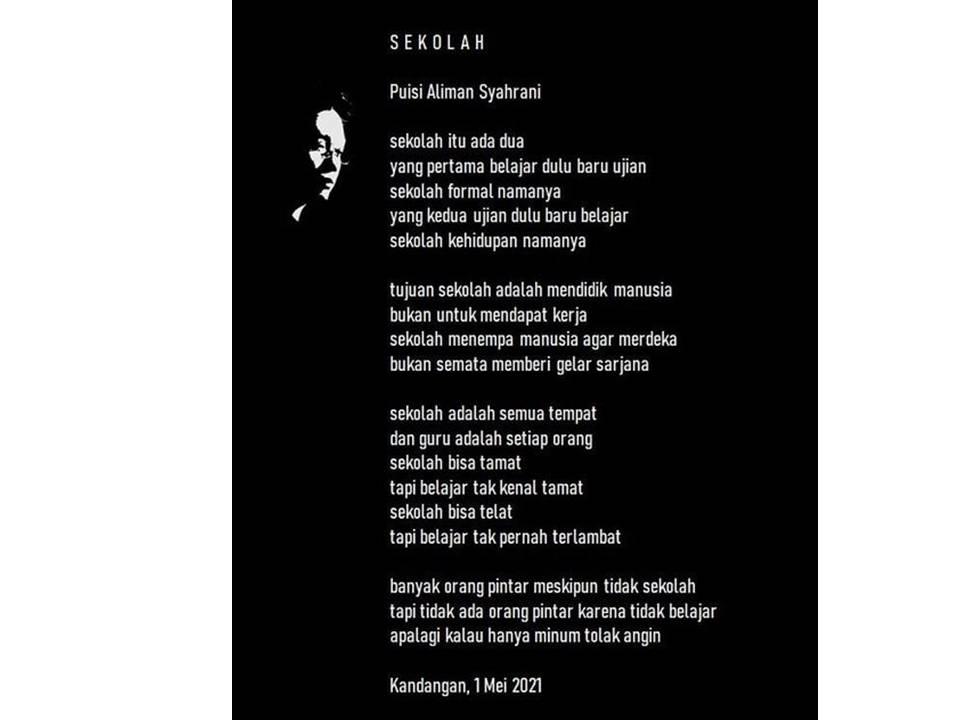 Puisi Aliman |  Kreativitas yang Menjadi